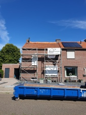 Pannendak met isolatie en dakkapel